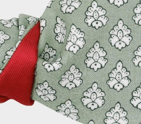 Pale Green Provence Kid Bow Tie - Handmade by Cinabre Paris