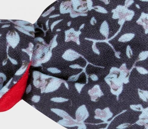 Light blue floral kid bow tie - cotton and silk - CINABRE Paris