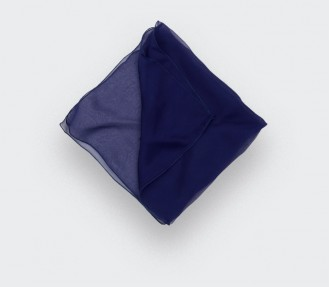 Pochette Voile Bleu Marine - Cinabre Paris