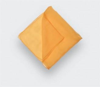 Yellow chiffon pocket square