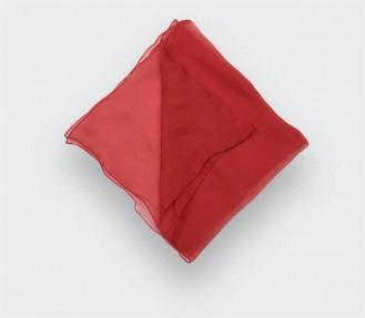 Red Silk Chiffon Pocket Square