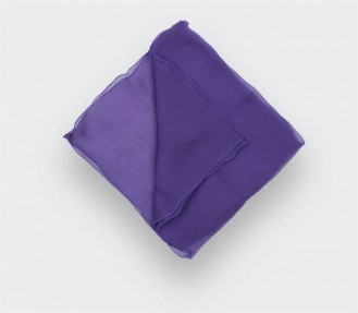 Purple chiffon pocket square
