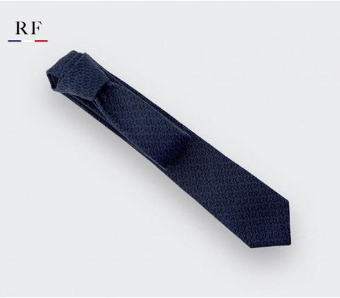 cravate bleu cosmique - laine et soie - cinabre paris