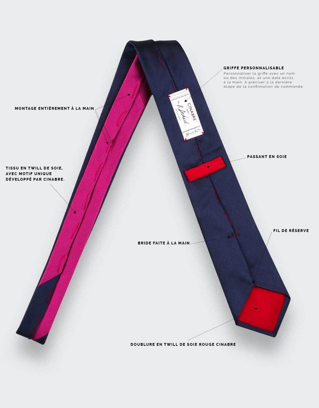 Cravate golf John Daly - soie- Cinabre Paris