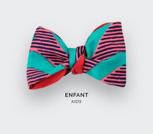 Noeud papillon Enfant Wax Vagues Vertes - CINABRE Paris