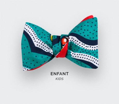 Polka-dot Wax Kid Bow Tie - Cinabre Paris