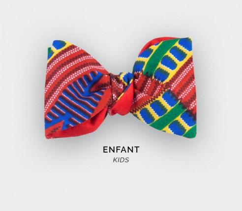 Noeud papillon Enfant Wax Rouge - Cinabre Paris