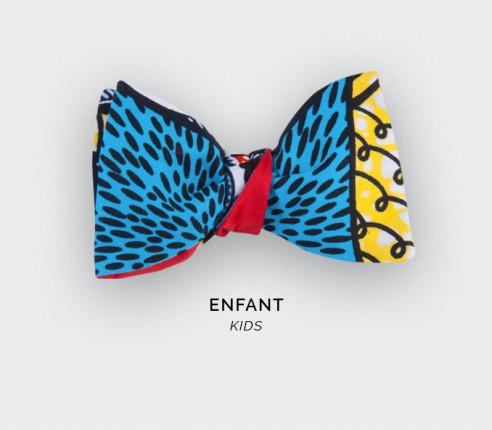 Turquoise Wax Kid Bow Tie - Cinabre Paris
