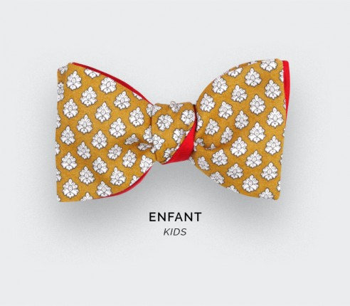 Yellow Provence Kid Bow Tie - Handmade by Cinabre Paris