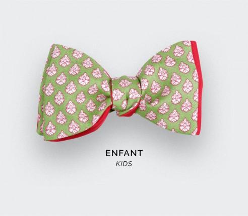 Noeud Papillon Enfant Provence Vert - Fait main par Cinabre Paris