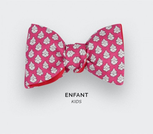 Pink Provence Kid Bow Tie - Handmade by Cinabre Paris