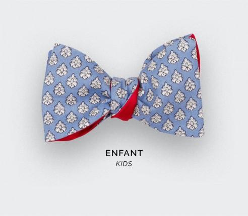 Noeud Papillon Enfant Provence Bleu Ciel - Fait main par Cinabre Paris