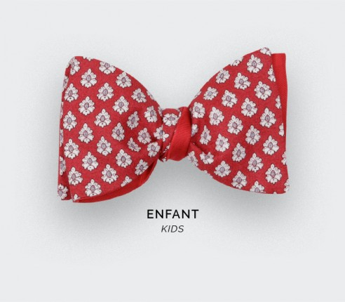 Red Provence Kid Bow Tie - Handmade by Cinabre Paris