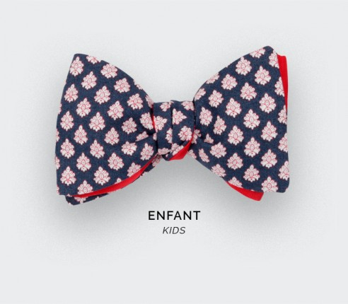 Navy Blue Provence Kid Bow Tie - Handmade by Cinabre Paris