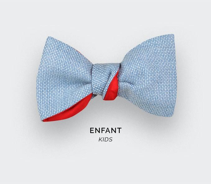 Sky Blue Mesh Kid Bow tie - Cinabre Paris