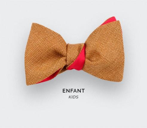 Mustard Mesh Kid Bow Tie - Cinabre Paris