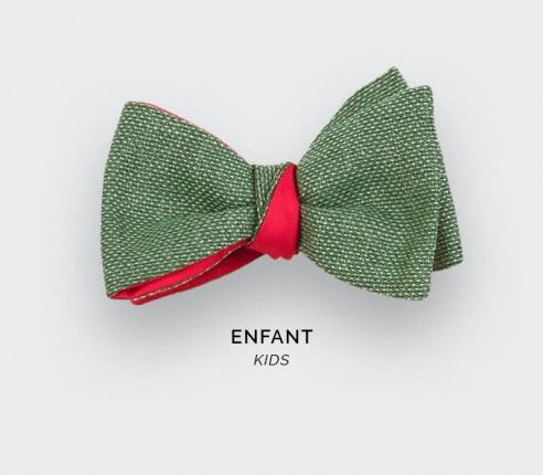 Noeud Papillon Enfant Maille Vert - laine - cinabre paris