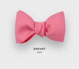 Noeud Papillon Enfant Maille Rose - Cinabre Paris