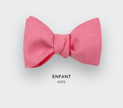 Pink Mesh Kid Bow Tie - Cinabre Paris