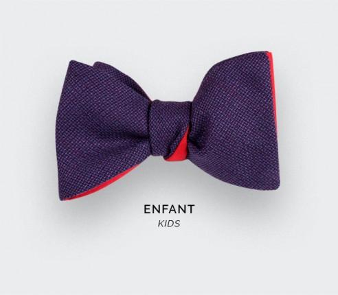 Purple Mesh Kid Bow Tie - Cinabre Paris