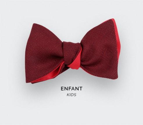 Burgundy Mesh Kid Bow Tie - Cinabre Paris