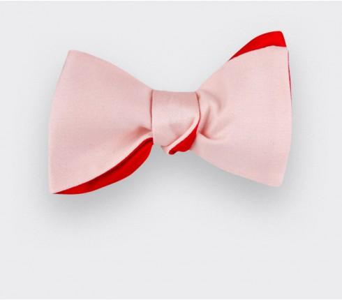 Noeud Papillon Blanc Rose - Cinabre Paris