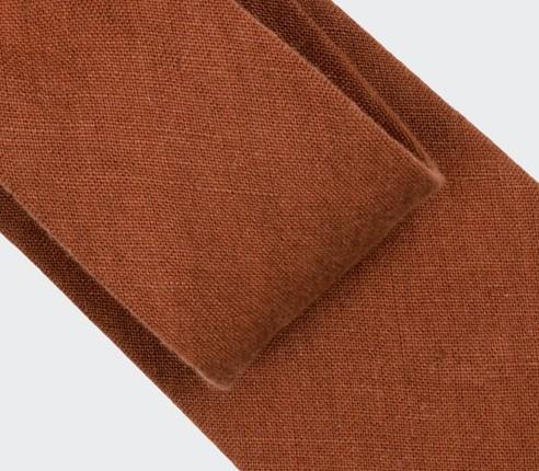 Cravate Lin Terracotta - Cinabre Paris
