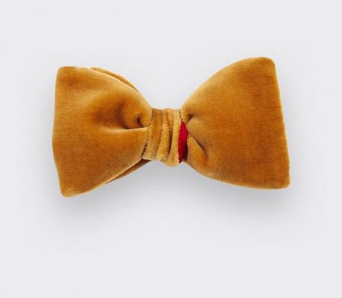 Mustard Velvet Bow Tie - Cinabre Paris