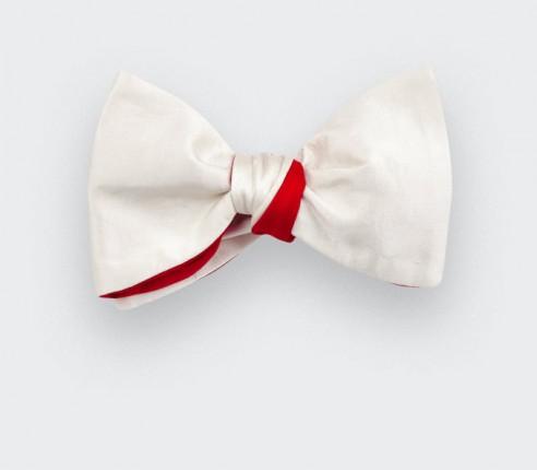 Ivory Silk Bow Tie - Cinabre Paris