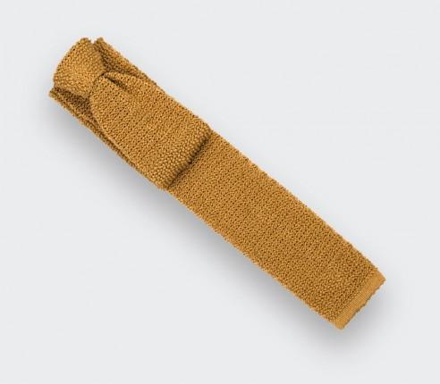 Cravate Tricot Moutarde - Cinabre Paris