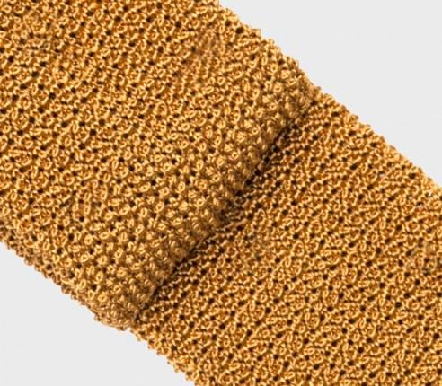 Mustard Knitted Tie - Cinabre Paris