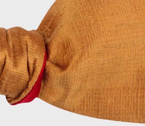 Copper dupion bow tie - Cinabre Paris