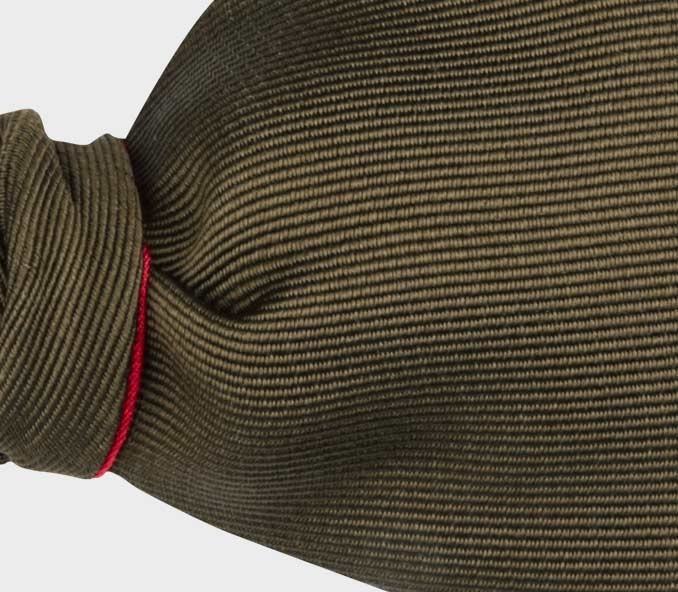 Brown Faille Bow Tie - handmade by Cinabre Paris