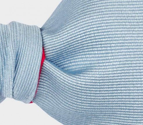 Light Blue Faille Bow Tie - Handmade in France by Cinabre Paris