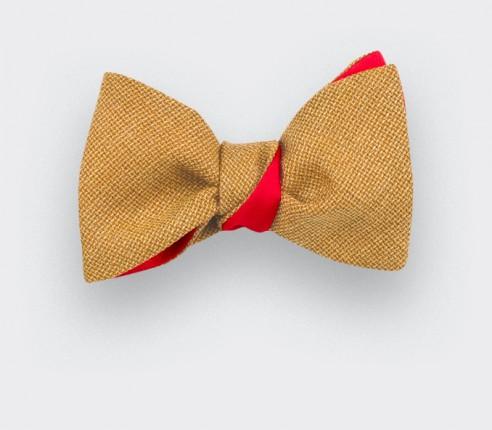 Mustard mesh Bow Tie - Cinabre Paris