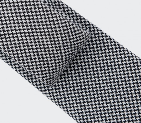 Black and White Houndstooth Tie - Cinabre Paris