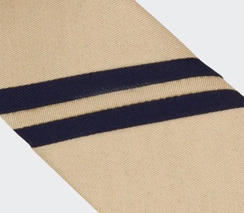 Sand Single Stripe Tie - Cinabre Paris