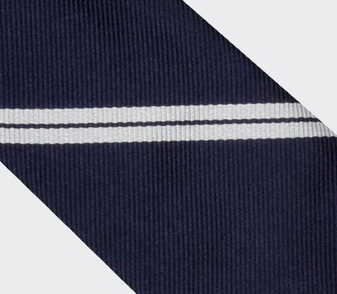 White Single Stripe Tie - Cinabre Paris