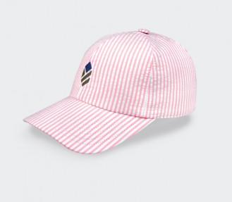 Made in France Light Pink Seersucker Cap - Cinabre Paris