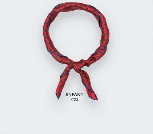 Foulard Enfant Grand Pan Rouge - Cinabre Paris