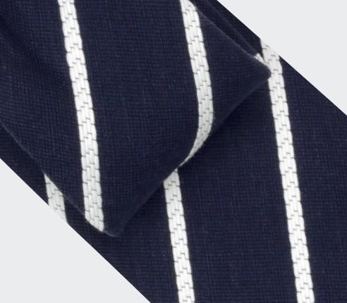 Cravate rayée bleu - Cinabre Paris