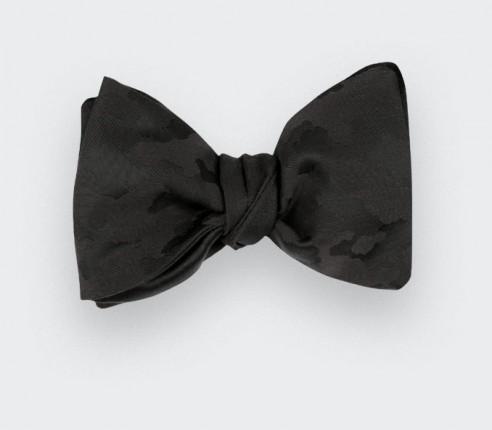 Black camo bow tie - Cinabre Paris