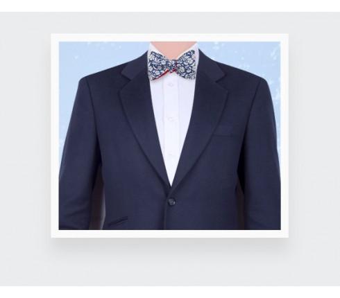 Blue surf flower bow tie - Cinabre Paris