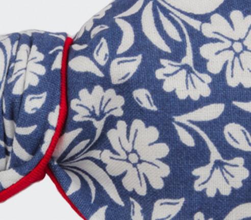 Noeud Papillon Fleuri Surf Bleu - Cinabre Paris
