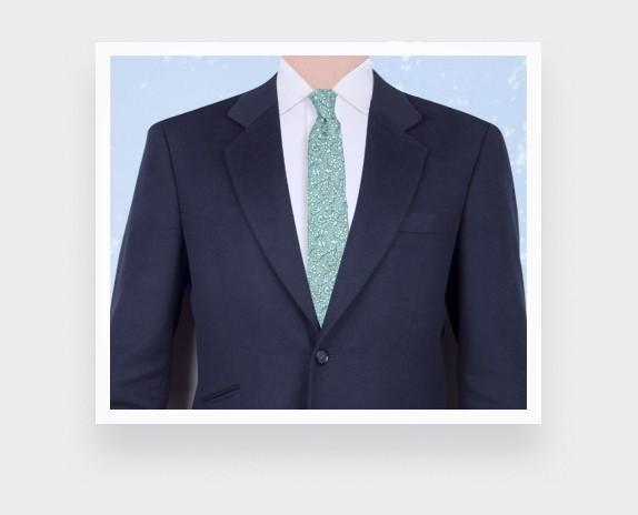 Sage Green Cinabre Flowery Tie - Cinabre Paris