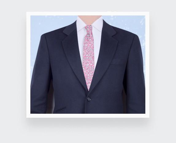 Hot pink Cinabre Flowery Tie - Cinabre Paris