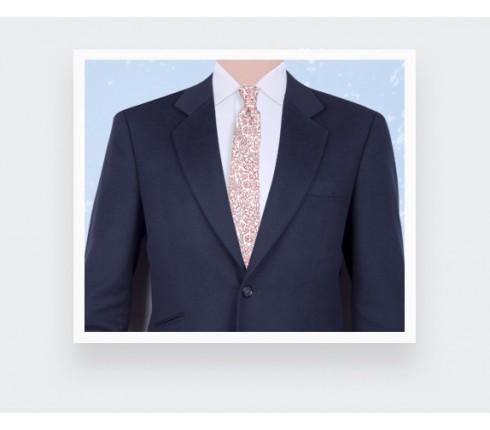 White Pink Cinabre Flowery Tie - Cinabre Paris