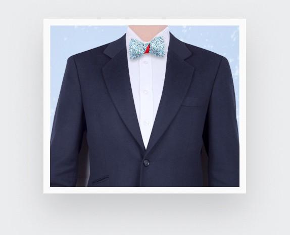 Baby Blue Cinabre Flowery Bow Tie - Cinabre Paris