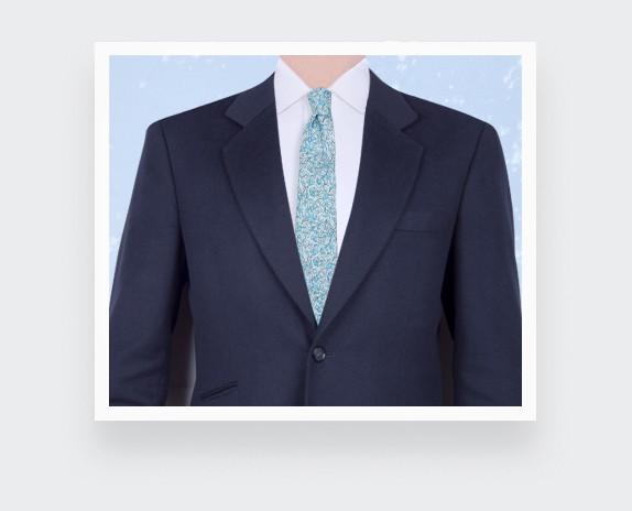 Pale Blue Cinabre Flowery Tie - Cinabre Paris