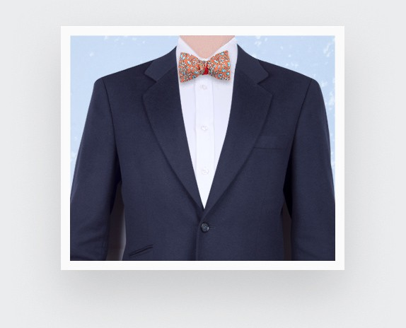 Orange Cinabre Flowery Bow Tie - Cinabre Bow Tie